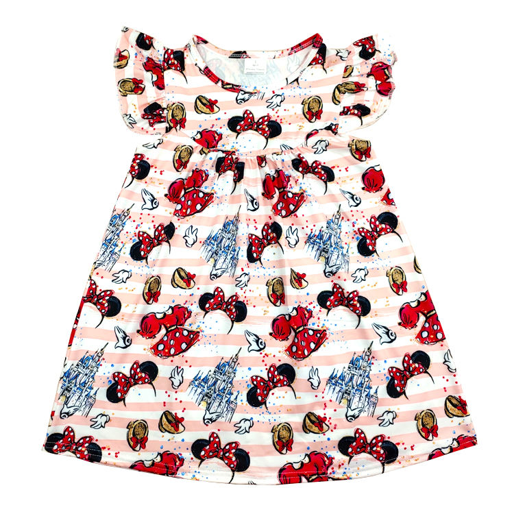 summer pearl top baby girls dresses children pearl tunics dress