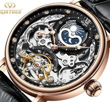 KINYUED Tourbillon movement men watches mechanical automatic wrist watch