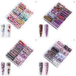 B994 Hot  Art Sticker Starry Sky Candy Nail Print Paper Harajuku Element Decal Manicure Tools Nail Sticker