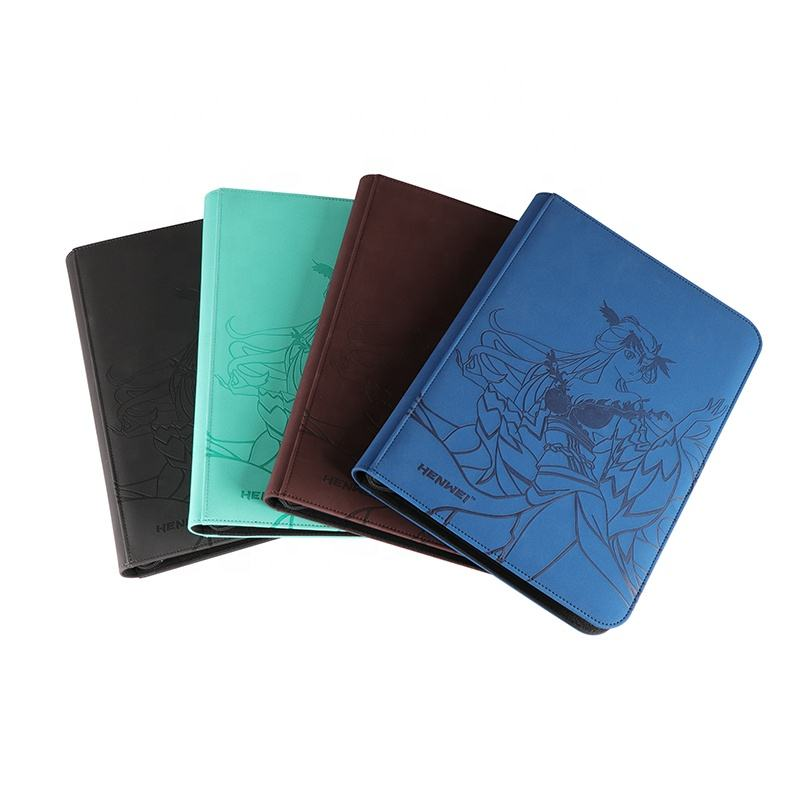 Photo Album High Quality PU Leather Cover Photo Album With Custom Logo 9-pocket Binder Printing Leather Card Album