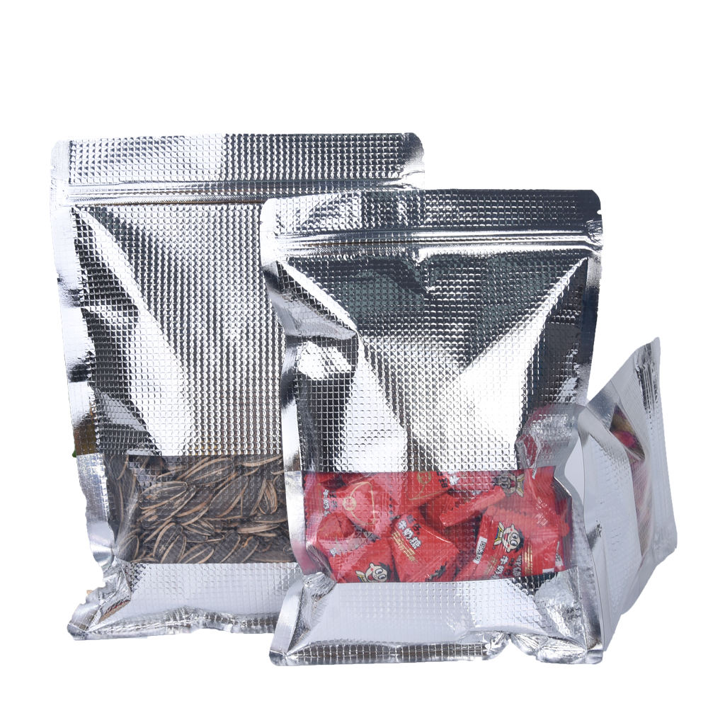 Custom printed mylar zip lock aluminum foil stand up plastic bag for tea packaging pouch