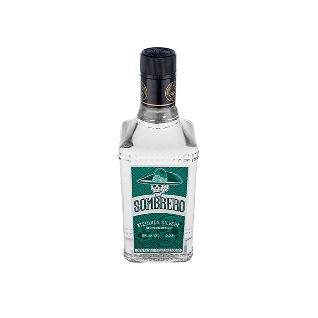 TEQUILA SOMBRERO SILVER.TEQUILAS DEL SENOR, we are Producers since 1943. 2018 World Cocktail Champ.ship 3rd place