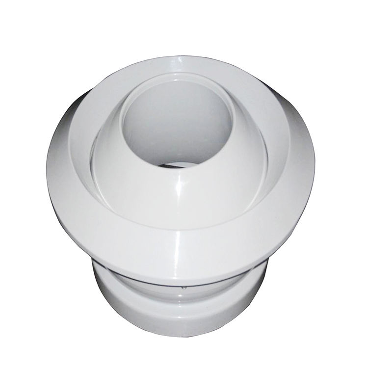 Round Adjustable Ball Spout Air Conditioning Ceiling Jet Nozzle Diffuser