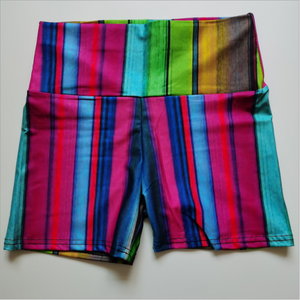 Hot Koop Broek Training Stretch Rainbow Strip Gedrukt Broek Fitness Yoga Shorts