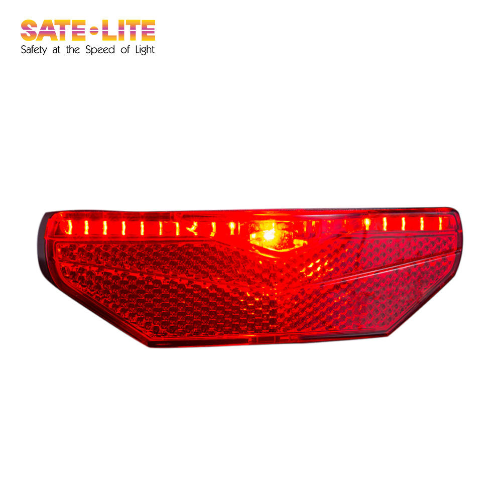 Sate-Lite StVZO Approved rear light, 6V-48V tail light for escooter, hub dynamo and ebike, bike rear light, LED Bicycle lamp