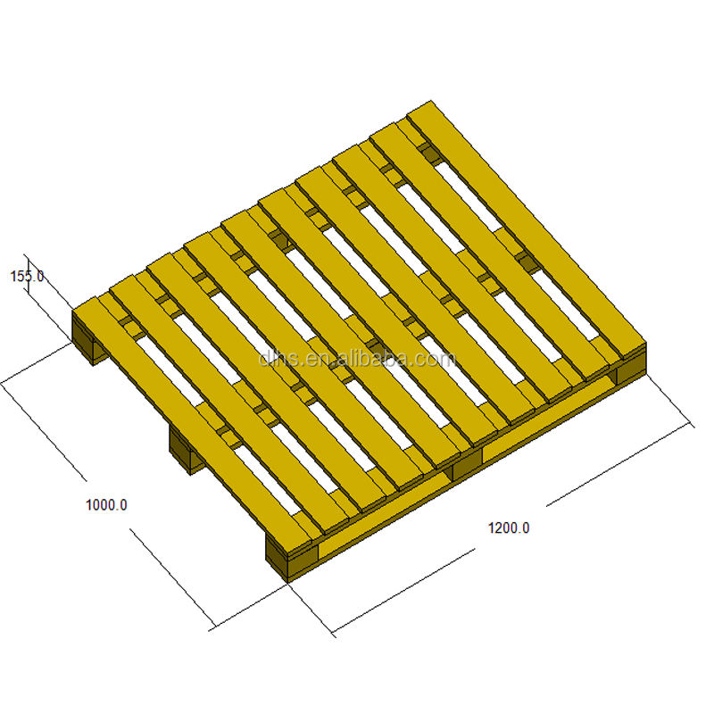 1200*1000*155mm single face High load bearing recycle wood pallet