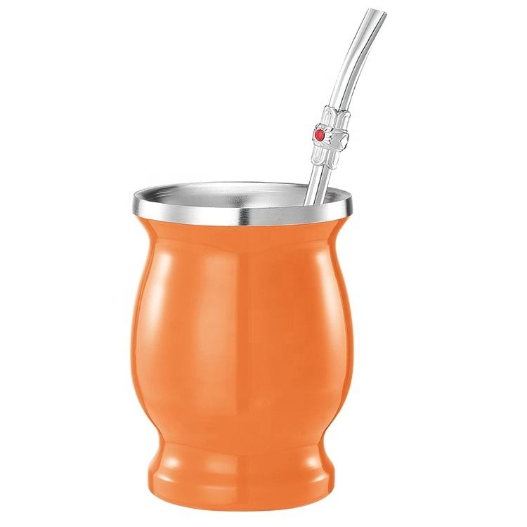 ONTO wholesale South America Argentina Hot Sale stainless steel Yerba mate gourd cup