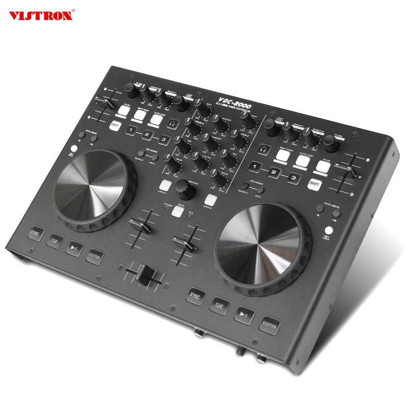 High Quality DJ Midi Controller With 2 Channel Mixer Design Controller For Professional Stereo Best Sound Controller