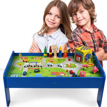 2021 New Design Train Set Table Toy Indoor Parent-children Interaction Educational Train Toy