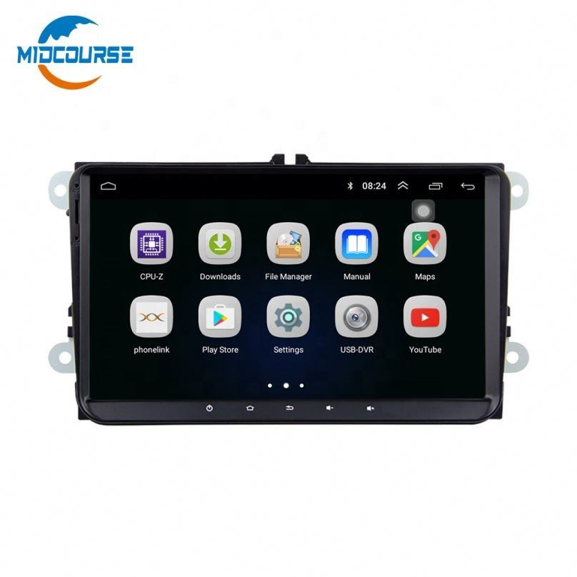 "0 Android 8.1 9"" Double Din Car DVD Player with IPS+DSP GPS Navigation for VW PASSAT B5 MK5 GOLF POLO Skoda Golf Seat BT"