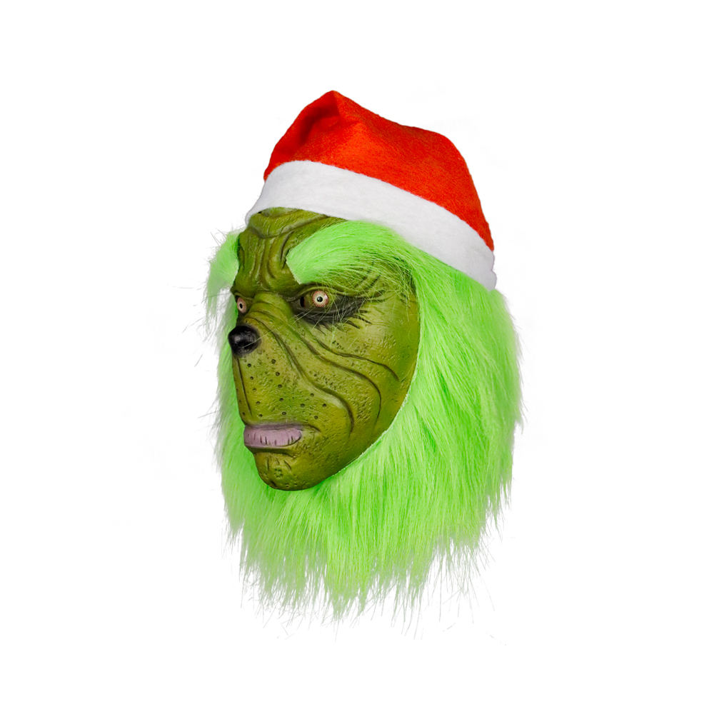 Molezu 2019 New Style Santa Claus Masquerade The Grinch Movie Latex Head Mask Christmas Cosplay Costume Party Masks OEM/ODM