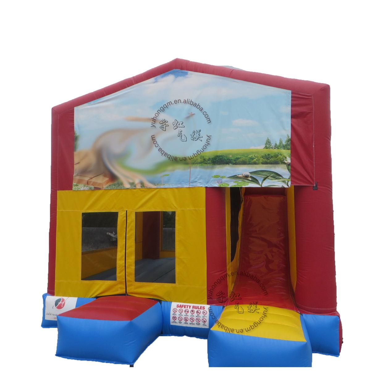 Çocuk komik <span class=keywords><strong>atlama</strong></span> arka bahçesinde şişme oyun parkı şatosu oyunları ev açık