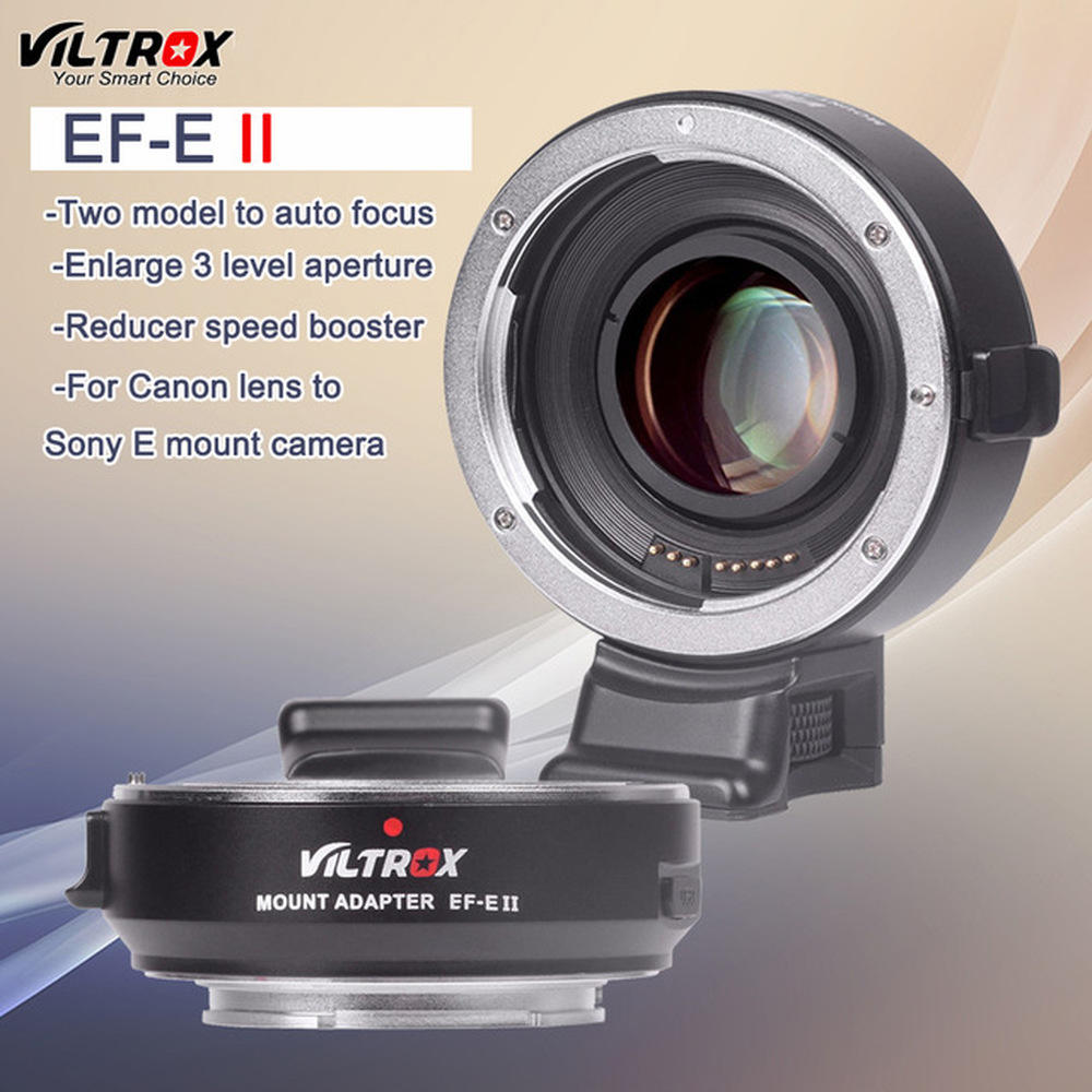 Viltrox EF-<span class=keywords><strong>E</strong></span> II CD PD Autofocus Réducteur Vitesse Booster Adaptateur D'objectif pour Canon EOS EF Lentille pour Appareil Photo <span class=keywords><strong>Sony</strong></span> A9 A7 A7RII A7SII A6500