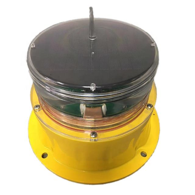 Solar marine lantern LED flashing navigation beacon warning light