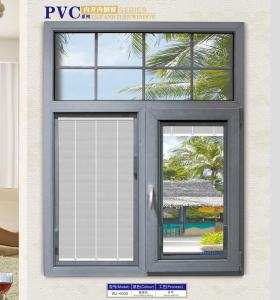 PVC double hung window UPVC profiles windows for China