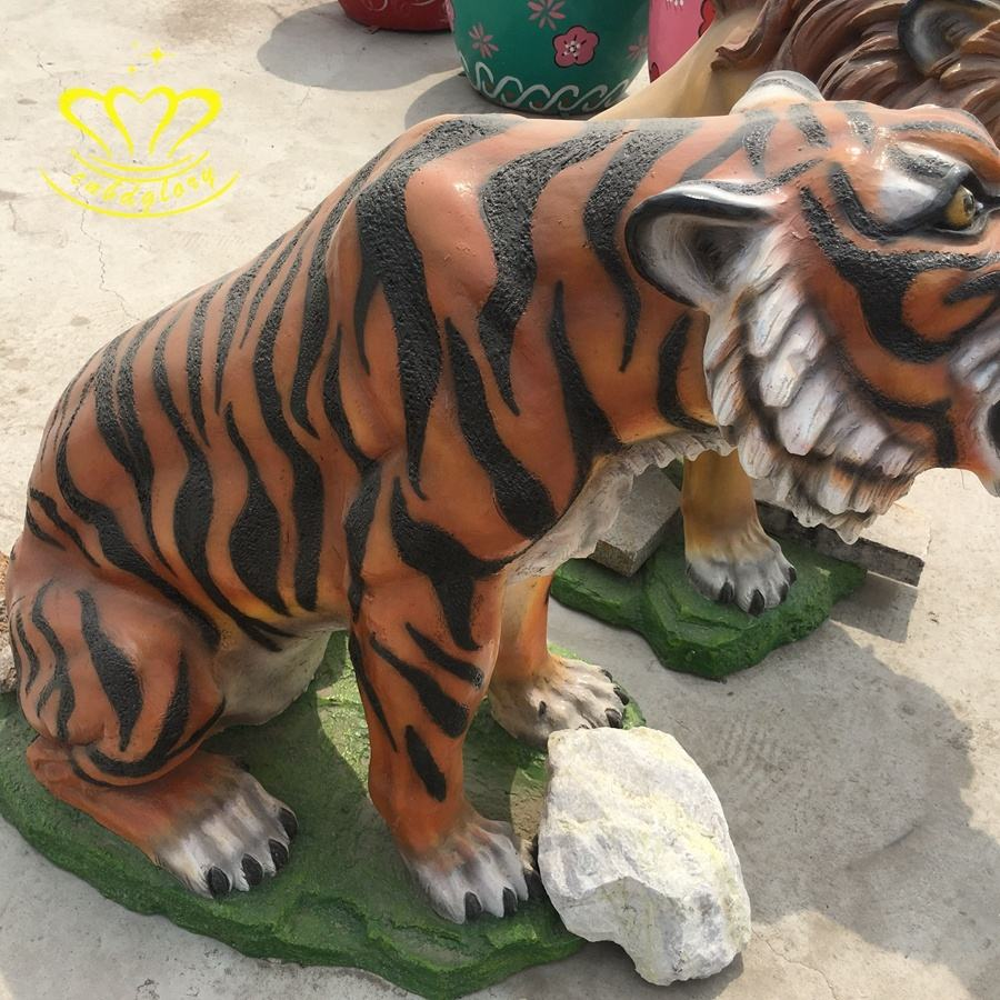 "15.5/"" Length Large Ghost White Tiger Figurine Wild Life Indoor Outdoor Decor"