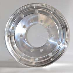 polished forged wheels for truck and trailers