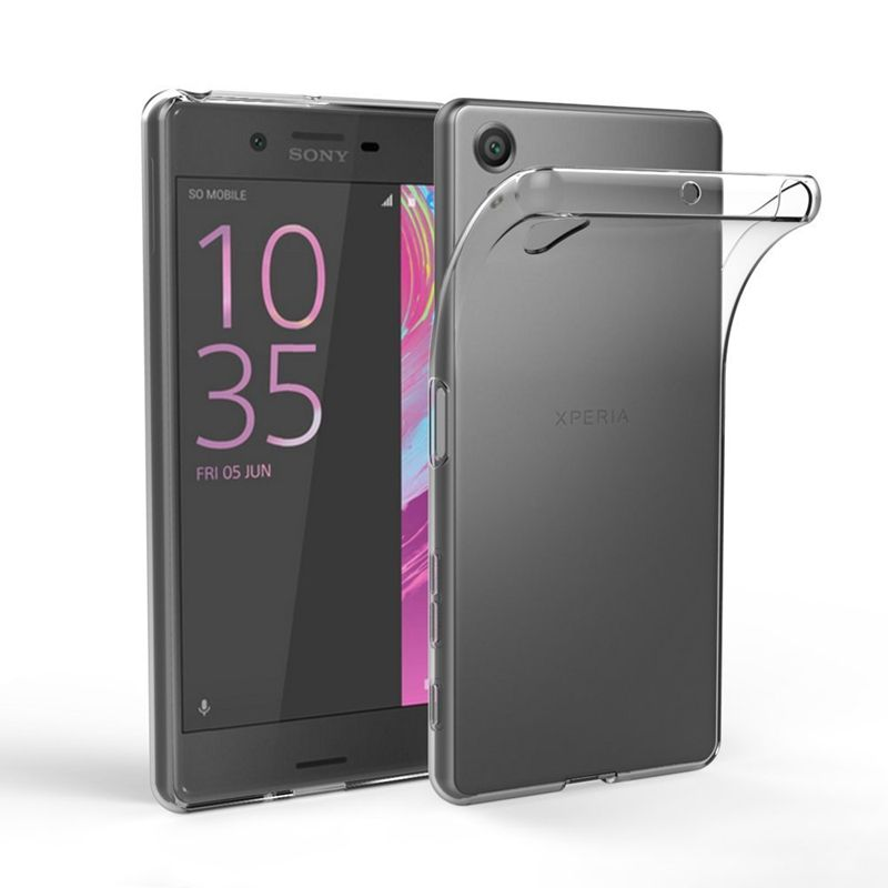 Case Transparent For Sony Xperia XZ1 XZs Z5 Compact XA1 Ultra Plus X XA XZ XZ Premium Plus L1 Z3 Soft TPU Cover