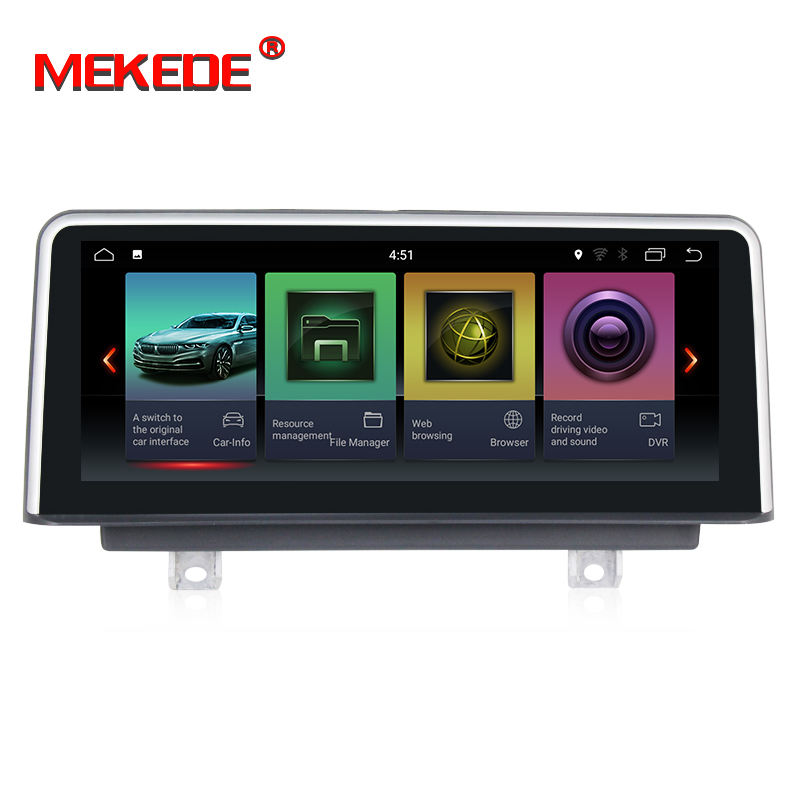 MEKEDE PX3 2 + 32G 4 NÚCLEO Android 7.1 IPS + DSP 10.25 ''Car dvd player GPS para BMW Serie 3 F30/F31/F34/1 Serie F20/F21 2013-2017