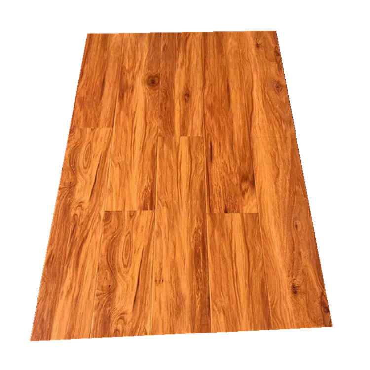 Indoor Usage and Style Selections Ginger Hickory Smooth Wood Plank Laminate Flooring producers
