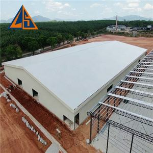 Low cost building material sandwich panel shed industrial metal hangar prefab workshop