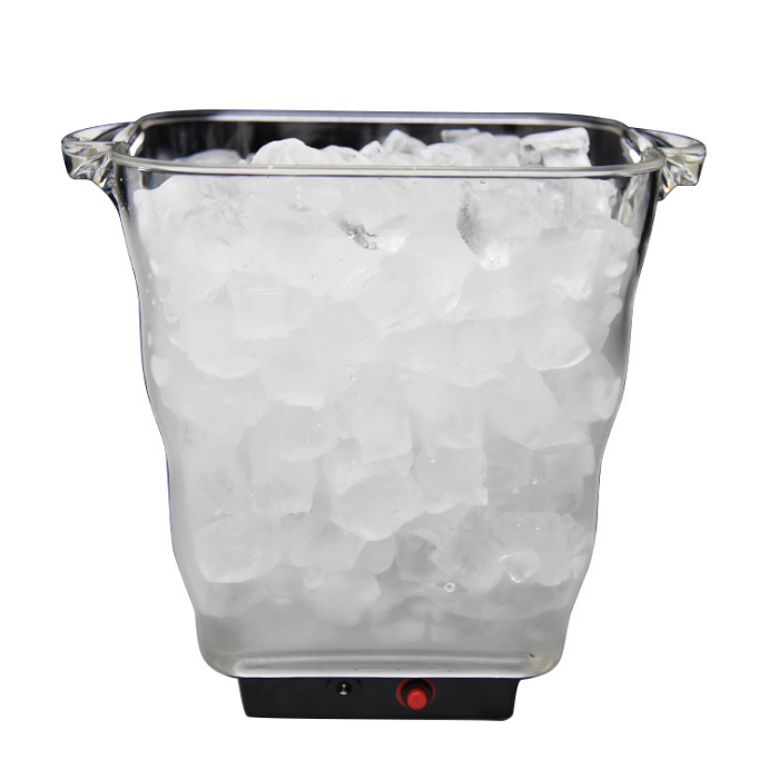 25*20CM New LED 5L square light-emitting ice bucket with handle and portable plastic red wine light-emitting ice bucket
