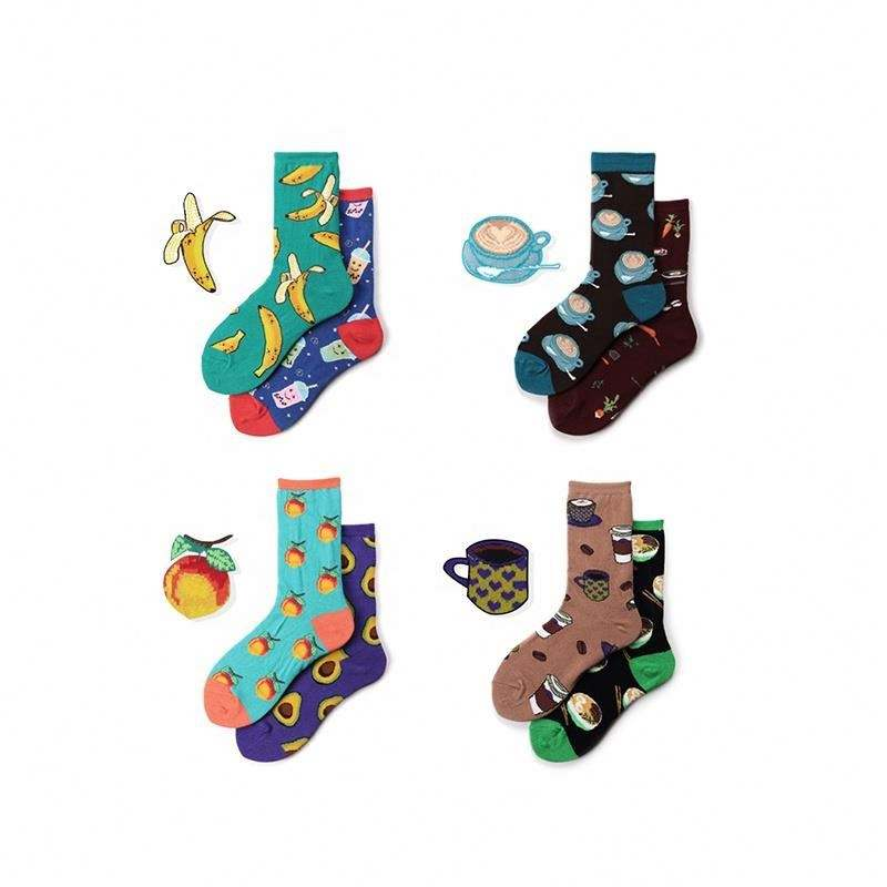 Spring Autumn Creative Funny Pattern Women Private Label Custom Socks
