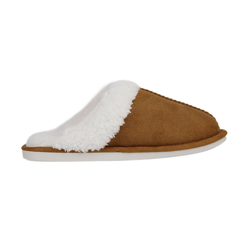 Classic women men winter indoor home slippers suede sherpa slippers sheepskin slippers house shoes