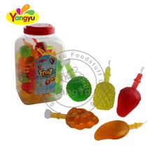 Jar Packing Fruit Shape Mix Fruit Flavour Jelly Candy