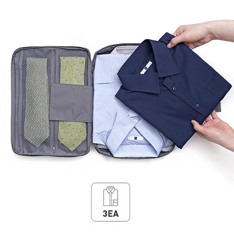 Hot men's fashion portable nylon t shirt travel blue Tshirt storage bag t-shirt box business organizer bag