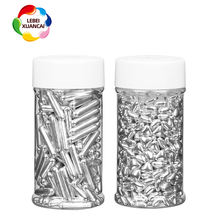 2020 Latest style sliver pressed candy jimmies bakery ingredients factory cheapest price sprinkles candy for cake decoration