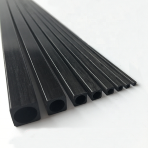 OD10 * 10*8.5 Mm 1000 Mm 12 K Pultruded Sợi Carbon Ống Vuông