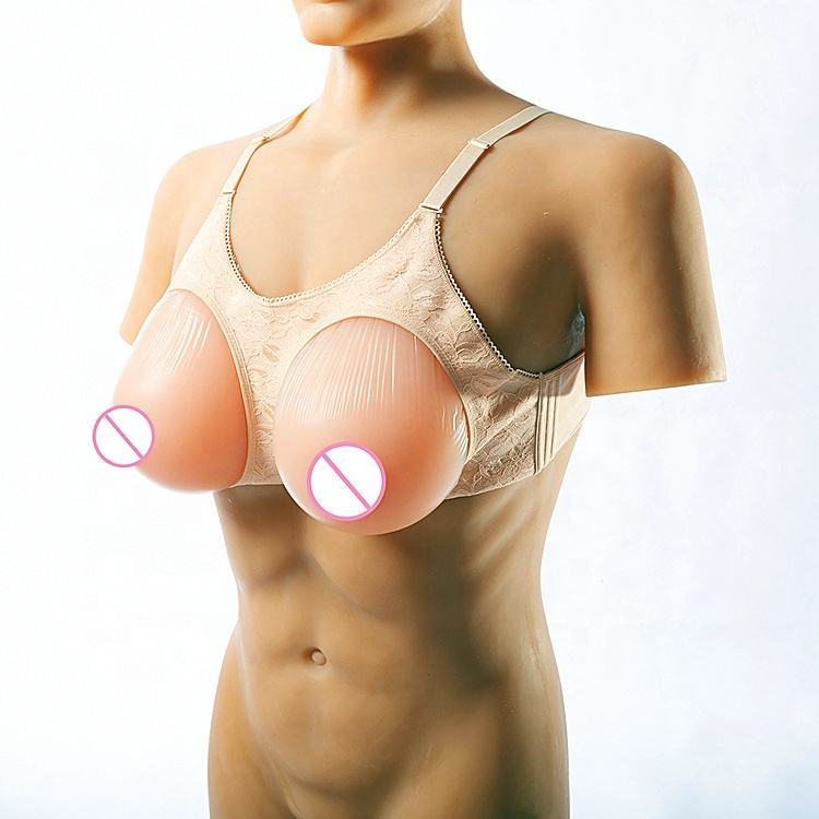 Real Forms Silicone Breast feeding Foam Boobs Strap Realistic And Vagina Self Adhesive Form Xxl Transgender Nipple Fake Breast