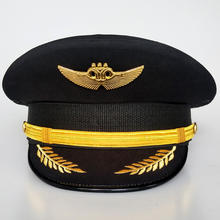 High quality aviation  officer cap  military captain hat army general pilot Cap