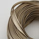 ODM round smooth leather cord metallic color metal gray stingray rope for luxury jewelry maker