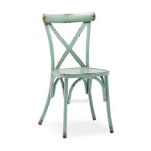 GA110 outdoor cross back aluminum dining chair