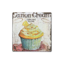 Home decor cake vintage dessert tin signs bar cup cake vintage wall poster metal signs