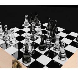 Luxury Glass Chess Set
