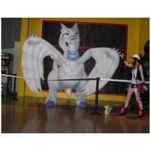 Big inflatable pokemon inflatable white flying dragon cartoon animal model for display