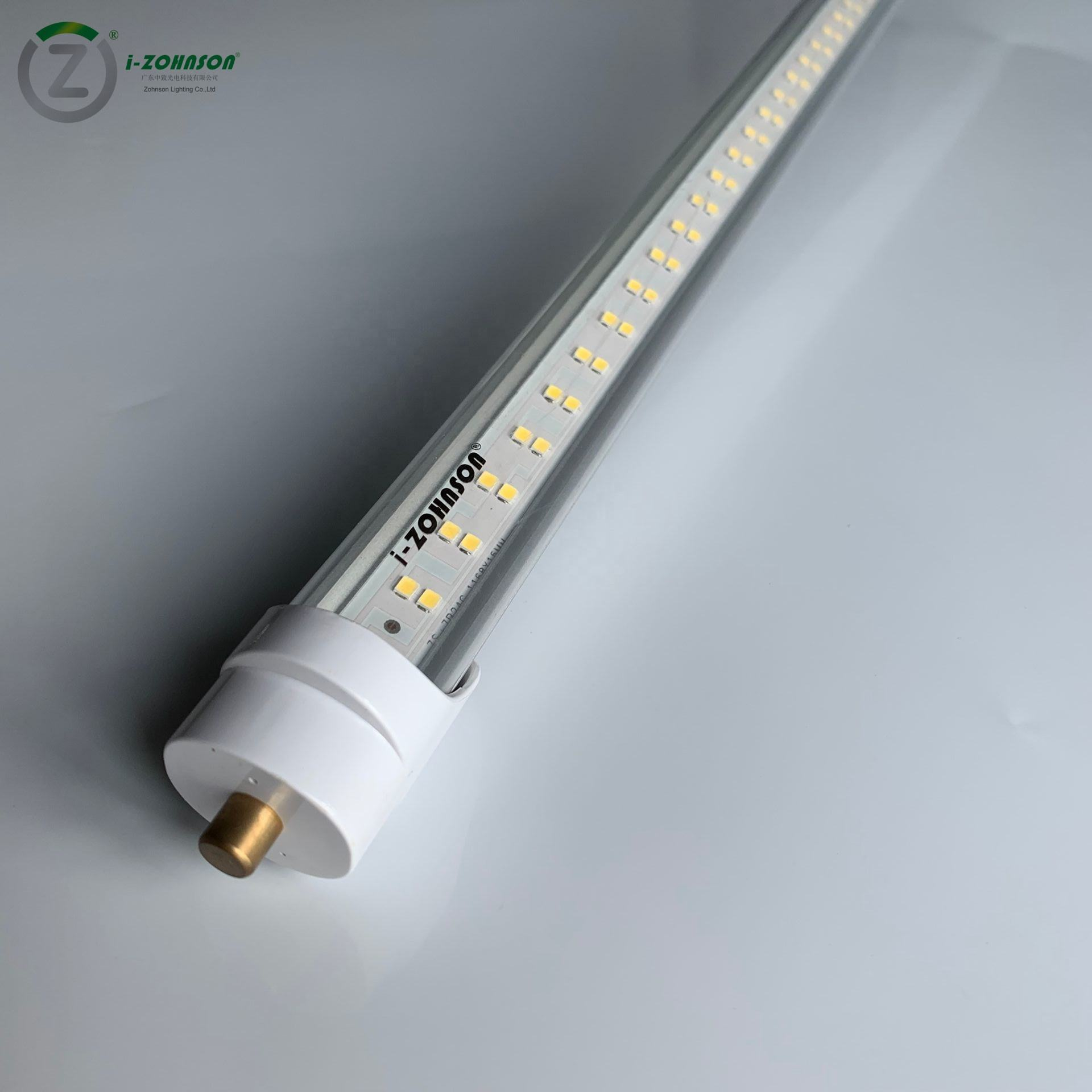 Factory Wholesale T8 Led Tube Light Lamp 8FT 40W(75W equivalent) T8 Single Pin FA8 End Cap Ballast Bypass