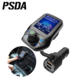 PSDA1.8 inch TFT Color Display Bluetooth Car Kit Handsfree Set 3 USB Port QC3.0 Quick Charge FM Transmitter MP3 Music P