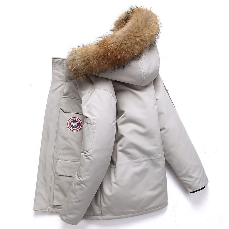 Outdoor winter mens jackets warm goose duck down jacket