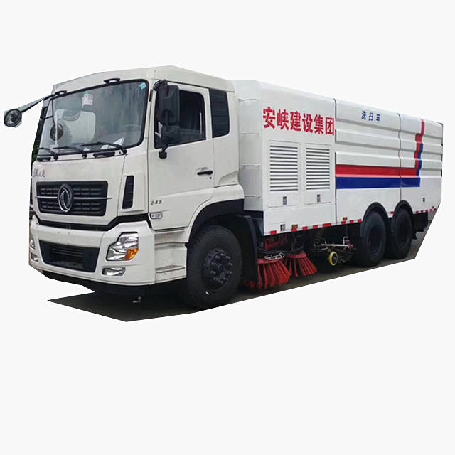 High efficiency low energy consumption 16 Ton Truck Mounted Street Sprinkler Sweeper City road cleaning car for sale