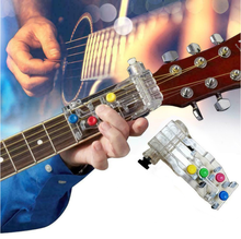 Portable Colorful 4 Keys Guitar Learning System Finger Protection Guitar Accessories Guitar Chords Teaching Aids For Beginners