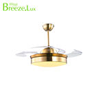 Fashion Style remote control home indoor iron blown color LED Ceiling Fan Light