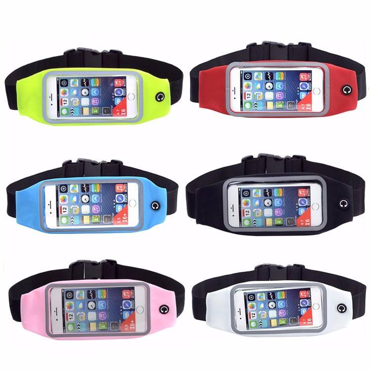 Amazon Hot Cakes Elastic Unisex Reflectic Waist Bag Running Belt with Clear Window