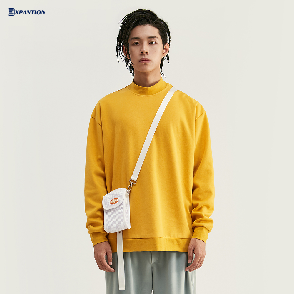 China Sweatshirt Manufacturer Custom Mens Loose Fit plain Yellow Sweatshirt