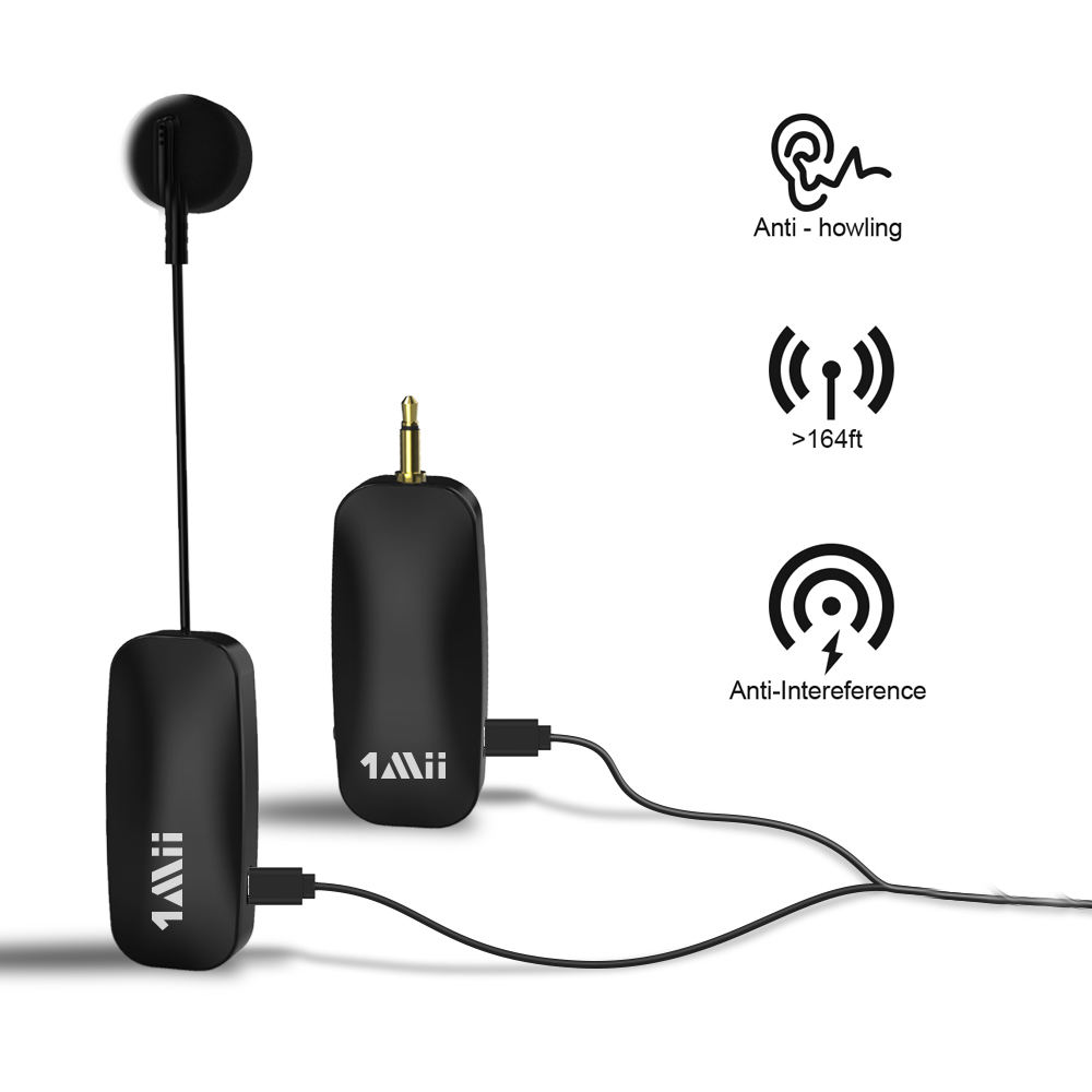 Genggam Headset Mic Speaker Amplifier Receiver untuk Konferensi Vlogging Gereja Handsfree Wireless Lavalier Lapel Mikrofon