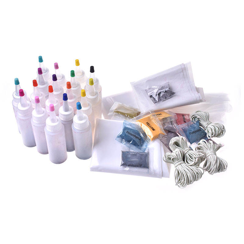 Free Collocation Of Multiple Specifications Non Toxic Party DIY Paint On Shirts Fabric Tie Dye One-step Tie-dye Kits