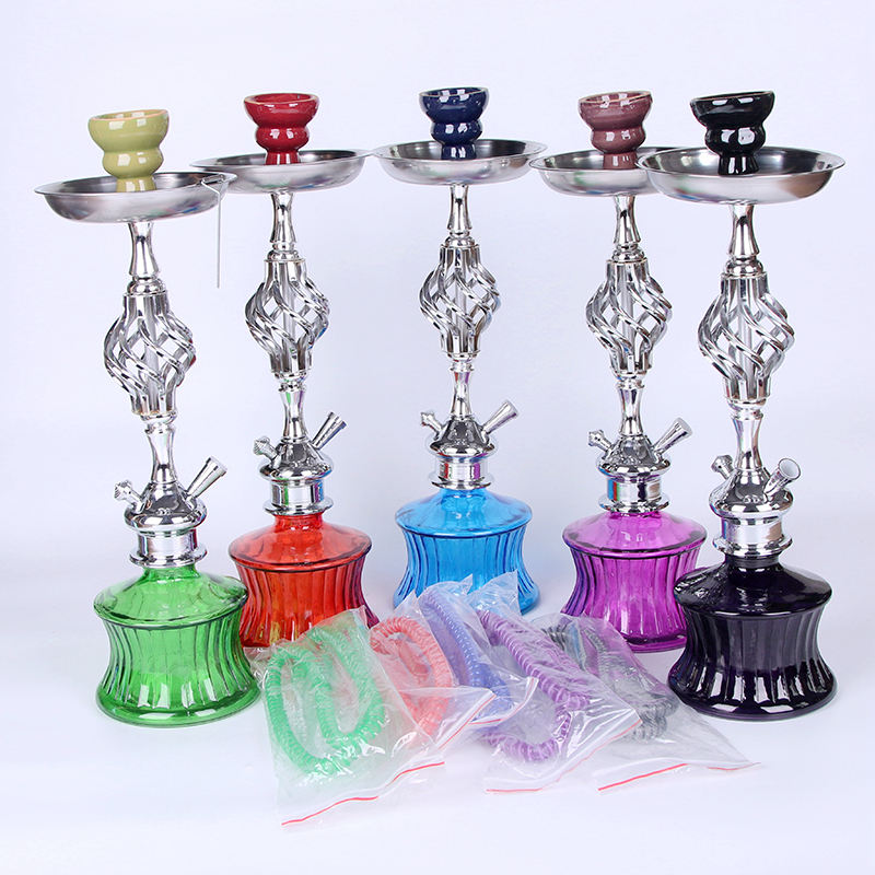 New Design Good Quality Shisha Accessories Acrylic Shisha Hookah with Double Hose Pipe